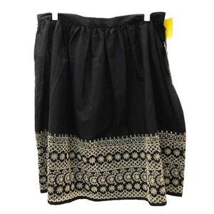 Michael Kors Black Eyelet Flare Skirt
